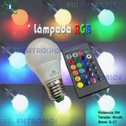 LÂMPADA LED  RGB 3W