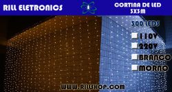 CORTINA LED 3X3 Metros   300LEDS   15 Watts