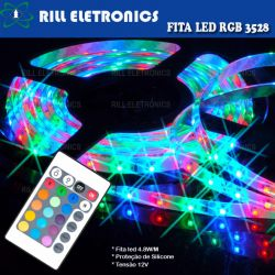 KIT FITA LED 3528 RGB  IP65  5 METROS