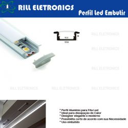 PERFIL DE EMBUTIR PARA FITA LED R-2