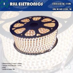 FITA LED 2835 6 WATTS  AC 110 V OU 220 V 60 LEDS/M