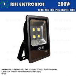REFLETOR LED 200W BRANCO FRIO