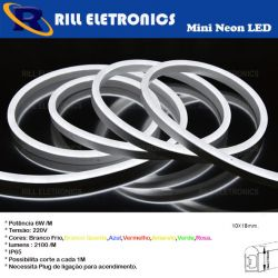 MINI NEON FLEX LED 6W/M 220V