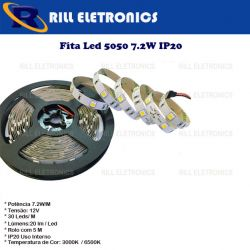 FITA DE  LED 5050 7,2 WATTS  / M  30 LEDS /M