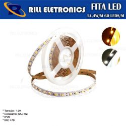 FITA DE LED 5050 14.4 WATTS POR METRO IP20