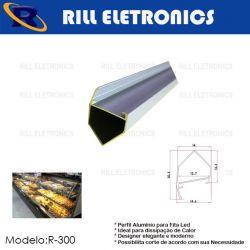 R-300 PERFIL PARA FITA LED EXPOSITORES E VITRINES  R-300