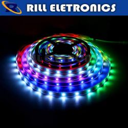 FITA DE LED RGB 7.2W DIGITAL 5050 30 LEDS  5M