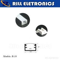 R-10 PERFIL PARA FITA LED U SOBREPOR R-10