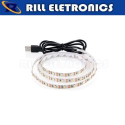 FITA LED 3528  6 WATTS  ( 5 V )   USB         ( 6-7 lm )  ( 360 lm / m )  ( 60 Leds / M )