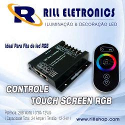 CONTROLE TOUCH SCREEN  PARA FITA DE LED RGB
