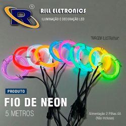 FIO DE NEON LIGHT  5 METROS -(  2 mm  de  Diâmetro )