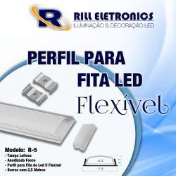 R-5 PERFIL PARA FITA LED U R-5 (ALUMÍNIO FLEXÍVEL)