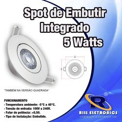 SPOT  LED 5 WATTS INTEGRADO