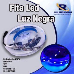 FITA LED 5050 14,4 WATTS  LUZ NEGRA