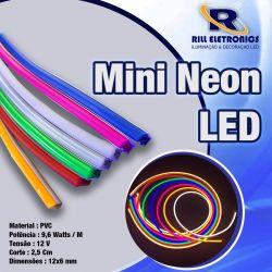 MINI NEON FLEXÍVEL LED PVC   9.6 W / M  12 V