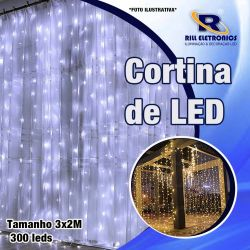 CORTINA DE LED 3 X 2 M 300 LEDS