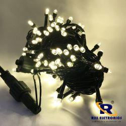 PISCA PISCA LED (FIXO) 10 M  100 LÂMPADAS DE LED (FIO VERDE ) BRANCO QUENTE