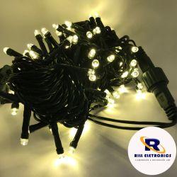 PISCA PISCA LED (FIXO) 10 M  100 LÂMPADAS DE LED (FIO VERDE ) À PROVA  D