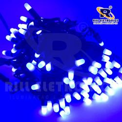 PISCA PISCA LED (FIXO) 9 M  100 LÂMPADAS DE LED (FIO VERDE ) À PROVA  D'ÁGUA (AZUL)