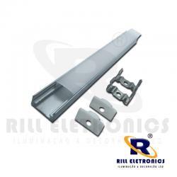 R-1 PERFIL PARA FITA LED U R-1  (  PINTURA - ANODIZADO  OU BRANCO )