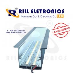 R-7 PERFIL DE EMBUTIR PARA FITA LED  (  PARA DUAS FITAS )