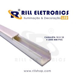 CANALETA 10 X 10 X 2000 MM PVC