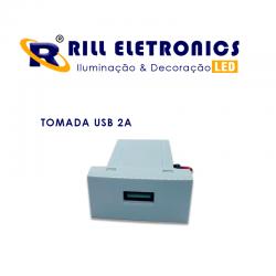 CONJUNTO TOMADA USB 2A BIV + ESPELHO