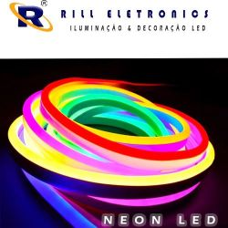 MINI NEON FLEXÍVEL  DE LED 9,6W  WATTS  / M  12 V