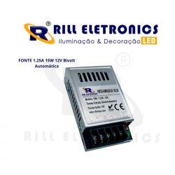FONTE 1.25A 15W 12V Bivolt Automática