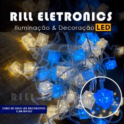 DECORAÇÃO   CUBO DE GELO DE LED    -  30 LEDS