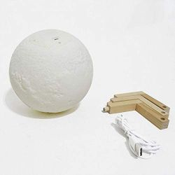 LUMINÁRIA  DE LED 3D     LUNAR    LUZ REGULÁVEL   CONTROLE REMOTO & TOUCH