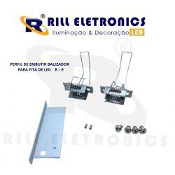 R-9 PERFIL DE EMBUTIR  BALIZADOR PARA FITA LED ( PINTURA -  ANODIZADO )