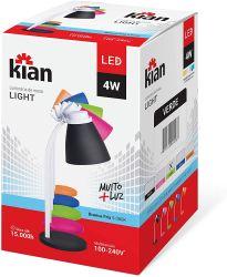 Luminária de Mesa  Light  Led 4 Watts Bivolt 100-240V Ip20  com Lâmpada  5.000 K