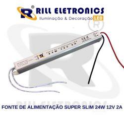 Fonte de Alimentação  - Super Slim -   2 A  12 V  24 W