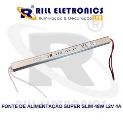FONTE DE ALIMENTAÇÃO SUPER SLIM  4 A  12V  48 WATTS