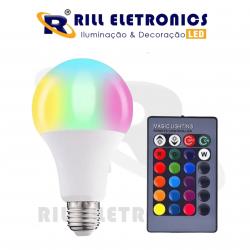 LÂMPADA DE LED RGB 5 WATTS
