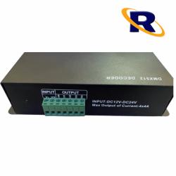 DECODIFICADOR DMX PARA FITA LED RGBW  4X4A DC 12-24V